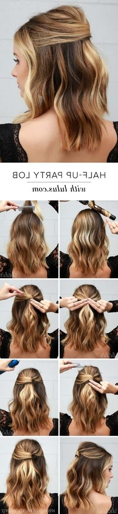 Half Up Knot Hairstyle – My First Pictorial | Pinterest | Knot Within Easy Wedding Guest Hairstyles For Medium Length Hair (View 3 of 15)
