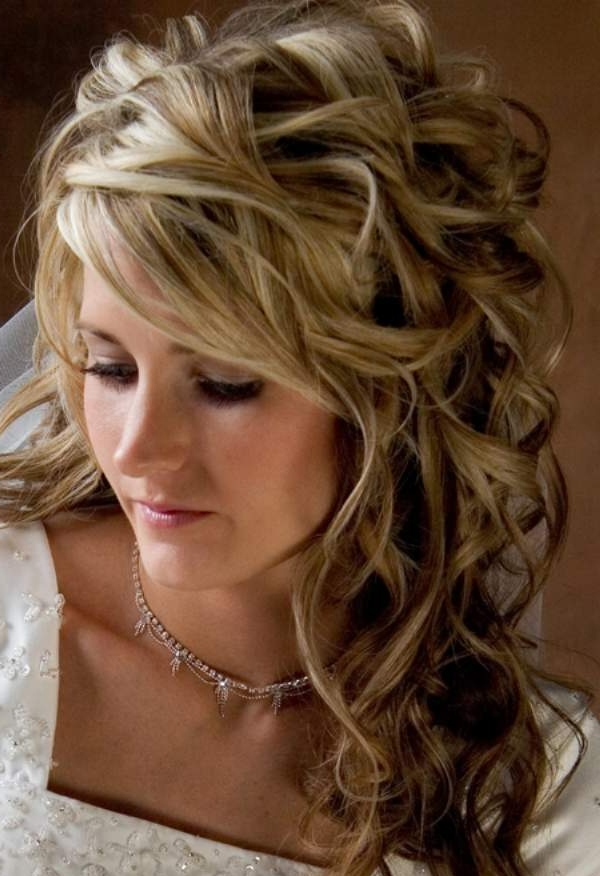 Half Up Wedding Hairstyles For Medium Length Hair – The Chic Intended For Wedding Hairstyles For Long Length Hair (View 8 of 15)