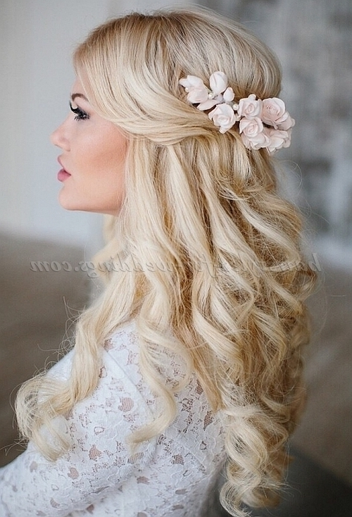 Half Up Wedding Hairstyles – Half Up Half Down Bridal Hairstyle Inside Half Up Half Down Wedding Hairstyles (View 9 of 15)