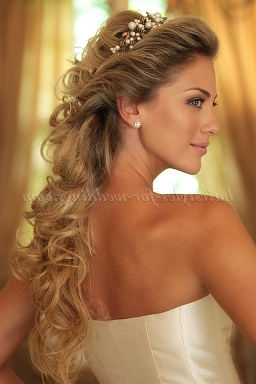Half Up Wedding Hairstyles – Half Up Half Down Bridal Hairstyle Pertaining To Part Up Part Down Wedding Hairstyles (View 9 of 15)