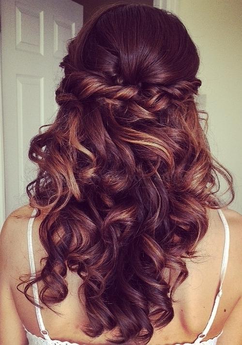 Half Up Wedding Hairstyles – Half Up Half Down Bridal Hairstyle Regarding Part Up Part Down Wedding Hairstyles (View 3 of 15)