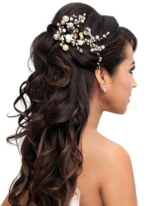 Half Up Wedding Hairstyles – Half Up Half Down Wedding Hairstyle In Part Up Part Down Wedding Hairstyles (View 11 of 15)