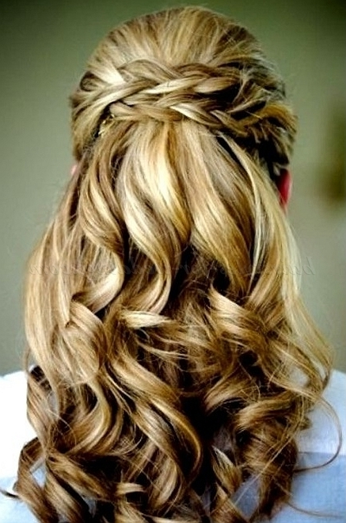 Half Up Wedding Hairstyles – Half Up Half Down Wedding Hairstyle Pertaining To Half Up Half Down With Braid Wedding Hairstyles (View 15 of 15)