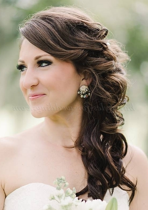 Half Up Wedding Hairstyles – Half Up Half Down Wedding Hairstyle With Regard To Down To The Side Wedding Hairstyles (View 9 of 15)