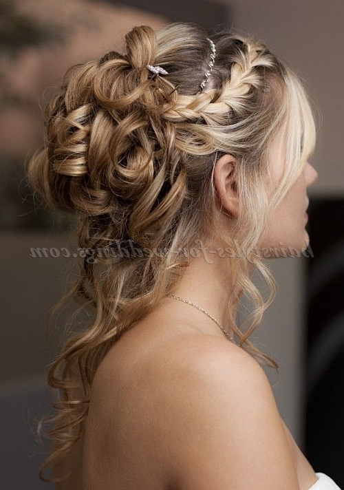 Half Up Wedding Hairstyles – Half Up Half Down Wedding Hairstyle With Regard To Up And Down Wedding Hairstyles (View 14 of 15)