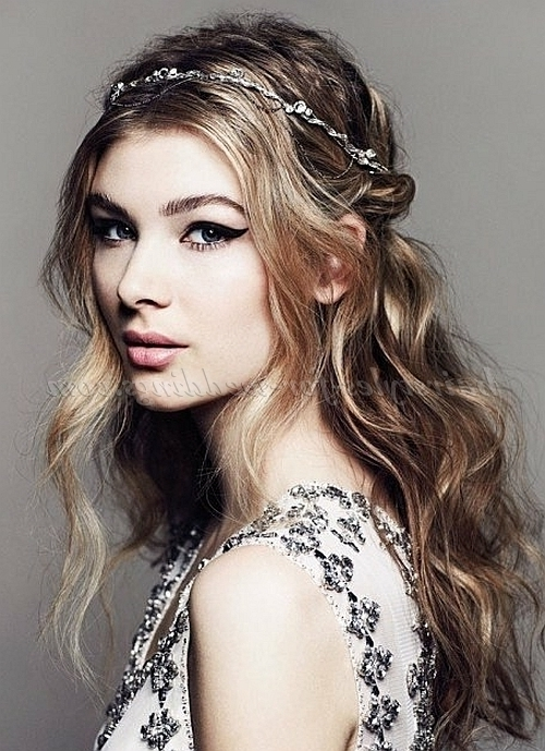 Half Up Wedding Hairstyles – Half Up Half Down Wedding Hairstyle With Regard To Wedding Hairstyles Down With Headband (View 7 of 15)