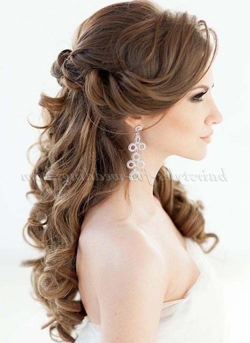 Half Up Wedding Hairstyles – Half Up Half Down Wedding Hairstyle Within Part Up Part Down Wedding Hairstyles (View 12 of 15)