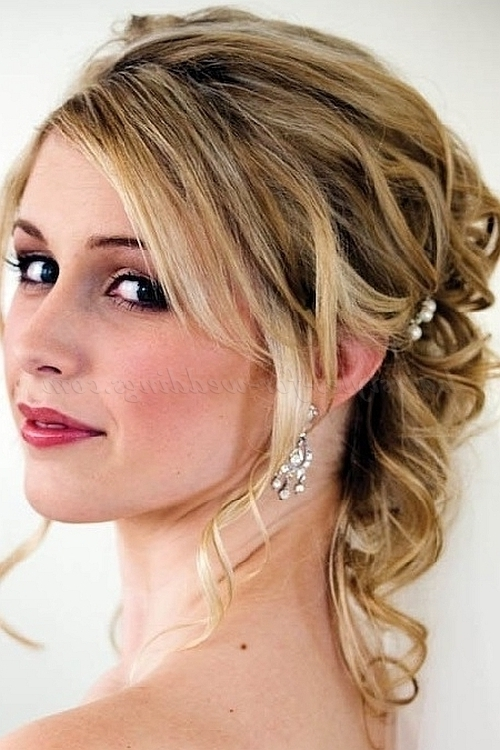 Half Up Wedding Hairstyles – Half Updo For Brides | Hairstyles For Regarding Mother Of Groom Wedding Hairstyles (View 6 of 15)