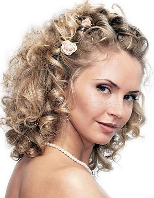Half Up Wedding Hairstyles – Twisted Wedding Hairstyle For Curly For Wedding Hairstyles For Curly Hair (View 10 of 15)
