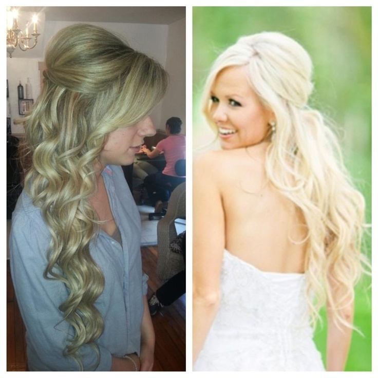 Half Updos For Long Hair Wedding | Hairstyle Ideas In 2018 Throughout Wedding Hairstyles For Long Hair Extensions (View 11 of 15)