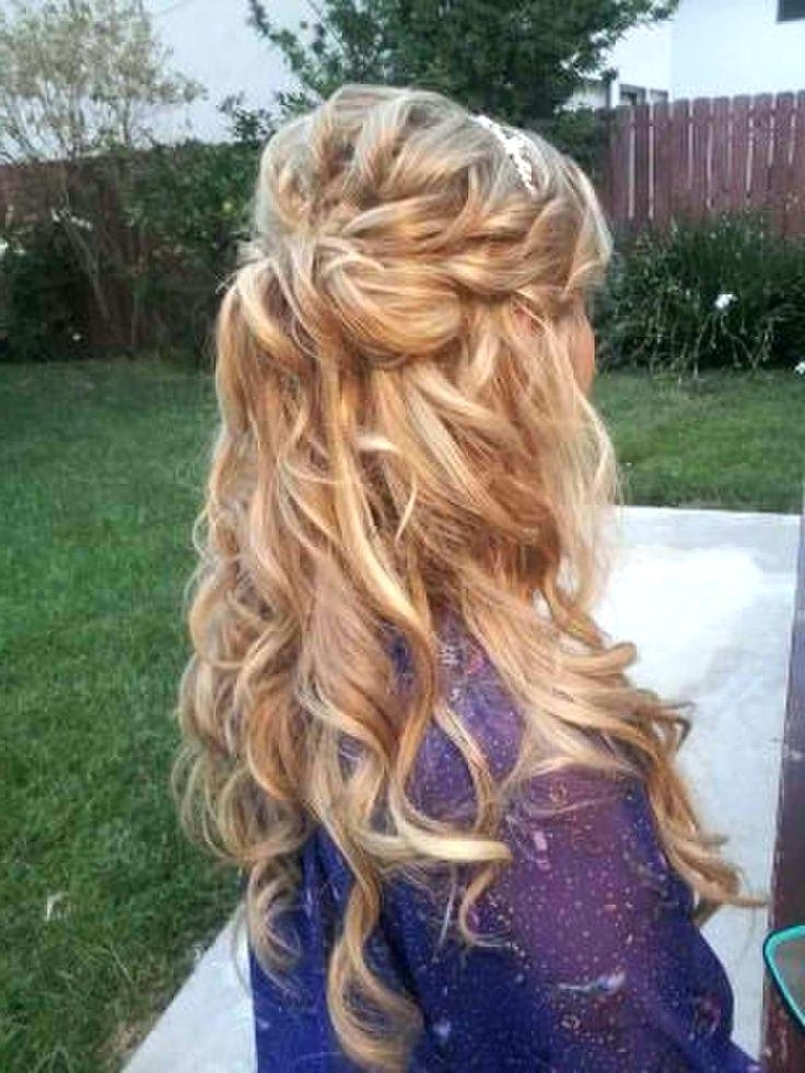Halfup Hairdos Braided Hairstyle For Wedding Hairstyles Long Curly With Half Up Wedding Hairstyles Long Curly Hair (View 8 of 15)