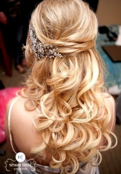 Here Curly Half Up Wedding Hairstyles With Half Up Half Down Curly Wedding Hairstyles (View 5 of 15)