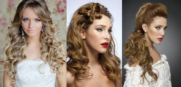 Home Featured Wedding Hairstyles For Oval Face Brides | Medium Hair With Regard To Wedding Hairstyles For Long Hair And Oval Face (View 9 of 15)