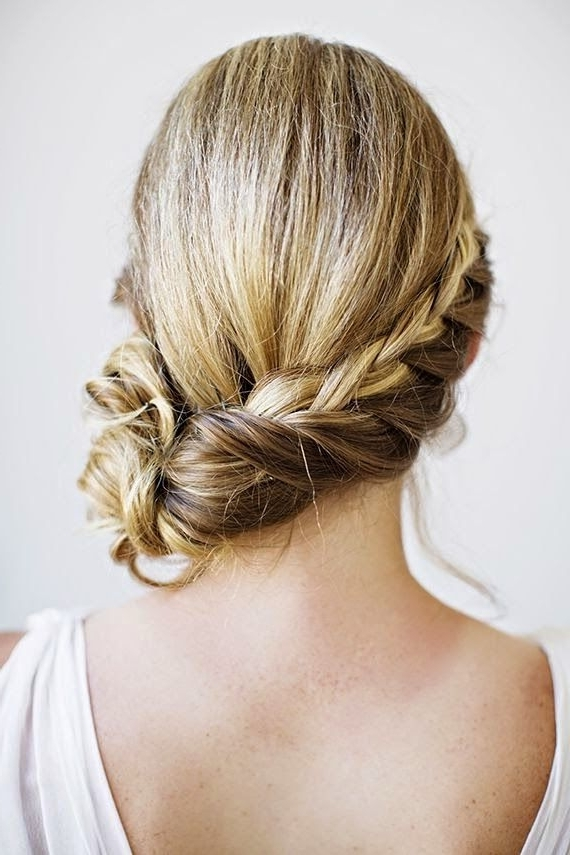 How To Chic: Braided Side Bun | Hairstyles | Pinterest | Braided Inside Plaits Bun Wedding Hairstyles (View 11 of 15)