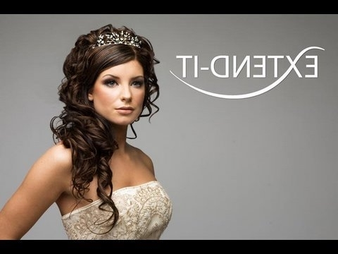 How To Do A Bridal Look With Extend It Clip In Extensions Pt 1/2 For Wedding Hairstyles With Hair Extensions (View 3 of 15)