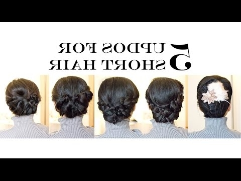 How To For Short/medium Hair | 5 Easy Updo Hairstyles (No Heat Regarding Easy Bridal Hairstyles For Short Hair (View 8 of 15)