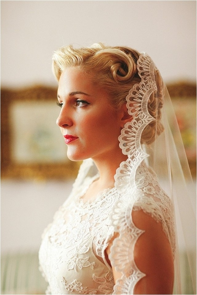 How To Wear A Mantilla Veil On Your Wedding Day With Regard To Up Hairstyles With Veil For Wedding (View 7 of 15)