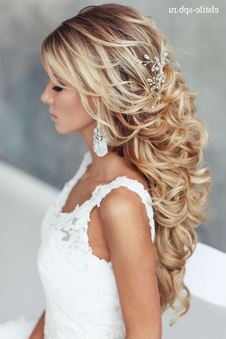 Ideas Curlyedding Hairstylesith Tiara Long Bridesmaid Hair Bridal Throughout Wedding Hairstyles For Long Curly Hair With Veil (View 10 of 15)