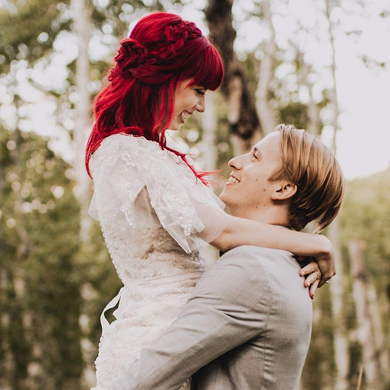 Ideas For Wedding Hairstyles | David's Bridal Regarding Wedding Hairstyles For Red Hair (View 14 of 15)