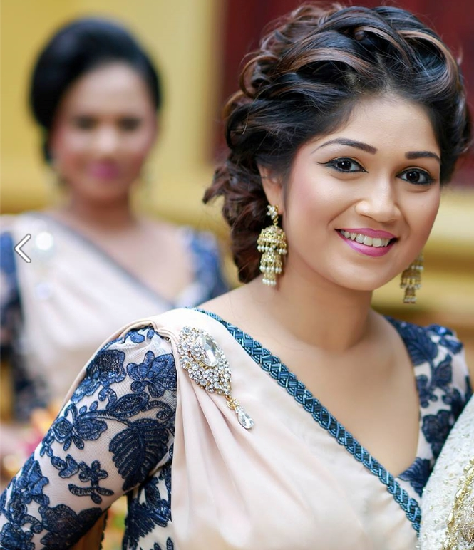 Image Result For Evening Updo With Sari | Makeup | Pinterest | Saris For Wedding Hairstyles For Sarees (View 9 of 15)