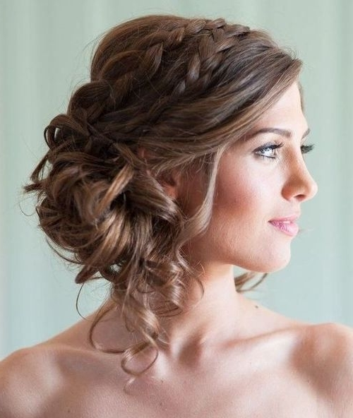 Featured Photo of Curly Side Bun Wedding Hairstyles
