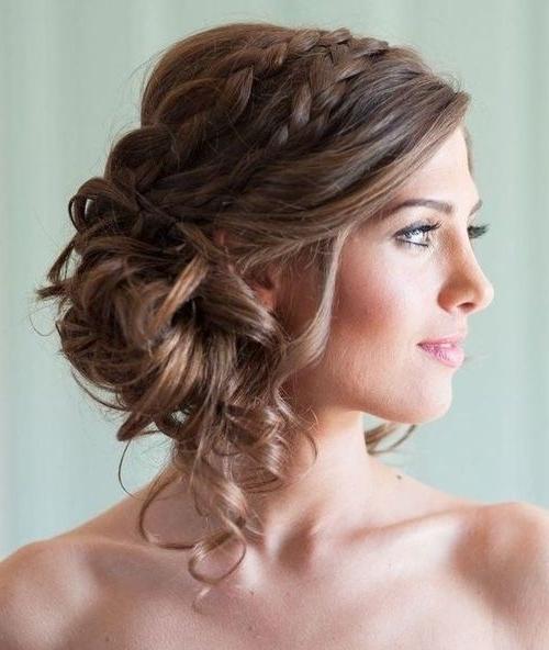 15 Best Ideas Of Curly Side Bun Wedding Hairstyles
