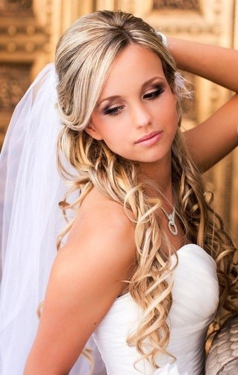 Image Result For Wedding Down Hairstyles With Veil | Wedding With Regard To Half Up Half Down With Veil Wedding Hairstyles (View 2 of 15)