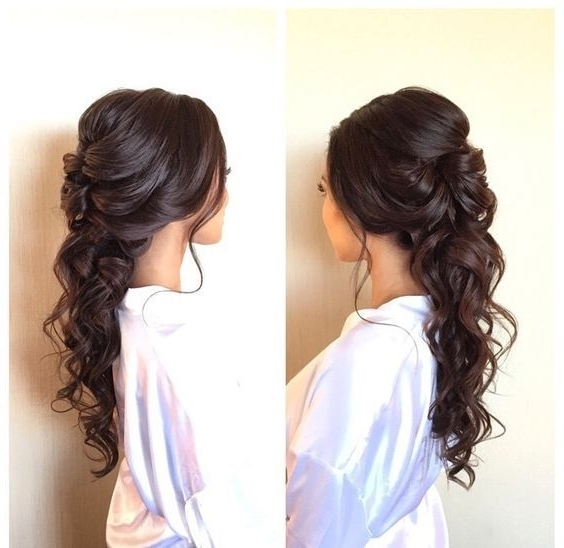 Image Result For Wedding Hairstyles Long Dark Hair | Wedding Day Intended For Wedding Hairstyles For Dark Hair (View 9 of 15)