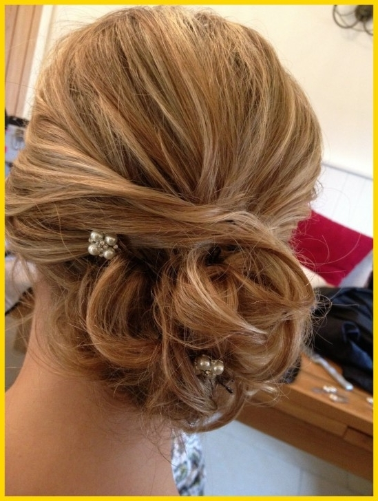 Incredible Showing Pic Gallery For U Wedding Hairstyles Side Bun In Wedding Hairstyles For Long Hair With Side Bun (View 5 of 15)