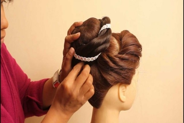 Indian Bridal Hairstylesestherkinder – Youtube | Indian Wedding Regarding Wedding Hairstyles By Estherkinder (View 10 of 15)