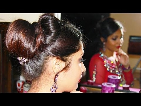 Indian Bridal Juda/updo | Hairstyle Tutorial – Youtube Throughout Wedding Juda Hairstyles (View 6 of 15)