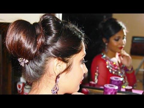 Indian Bridal Juda/updo | Hairstyle Tutorial – Youtube Throughout Wedding Juda Hairstyles (View 6 of 15)
