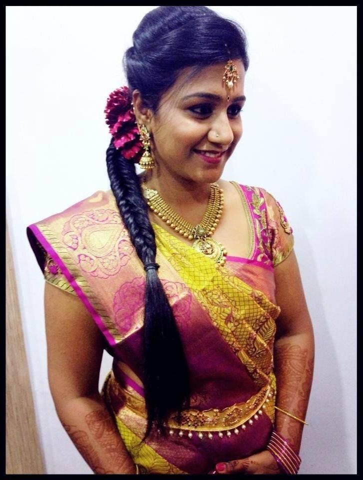 Indian Bride's Reception Hairstyle Createdswank Studio (View 10 of 15)