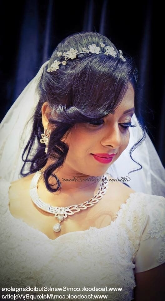 Indian Christian Bride's Wedding Hairstylevejetha For Swank Within Christian Bride Wedding Hairstyles (View 10 of 15)