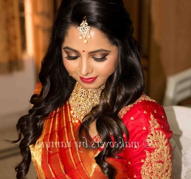Indian Hairstyles For Wedding Reception : Best Hairstyles In 2018 In Wedding Reception Hairstyles For Indian Bride (View 10 of 15)