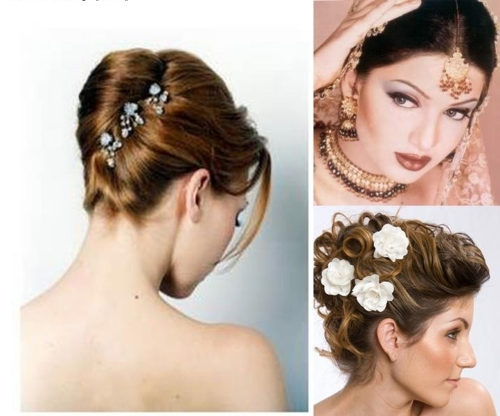 Indian Wedding And Reception Hairstyle Trends 2013 – India's Wedding In Christian Bride Wedding Hairstyles (View 12 of 15)