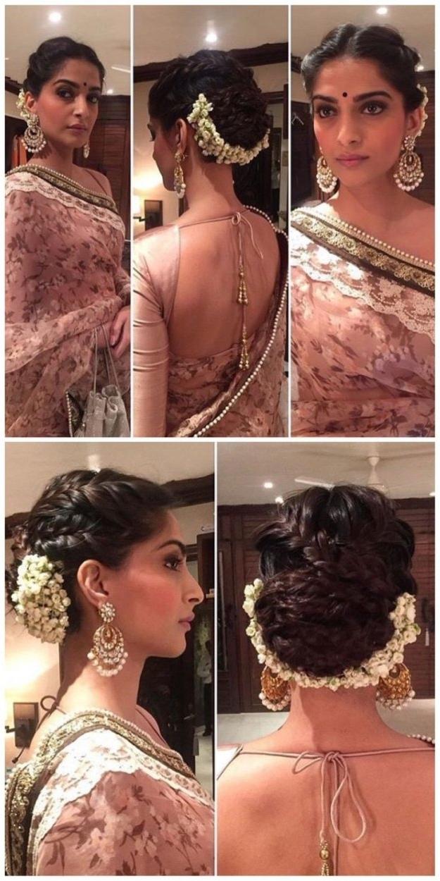 Indian Wedding Hairstyle Medium Length Hair 3 Indian Hairstyles Throughout Indian Bridal Hairstyles For Medium Length Hair (View 6 of 15)