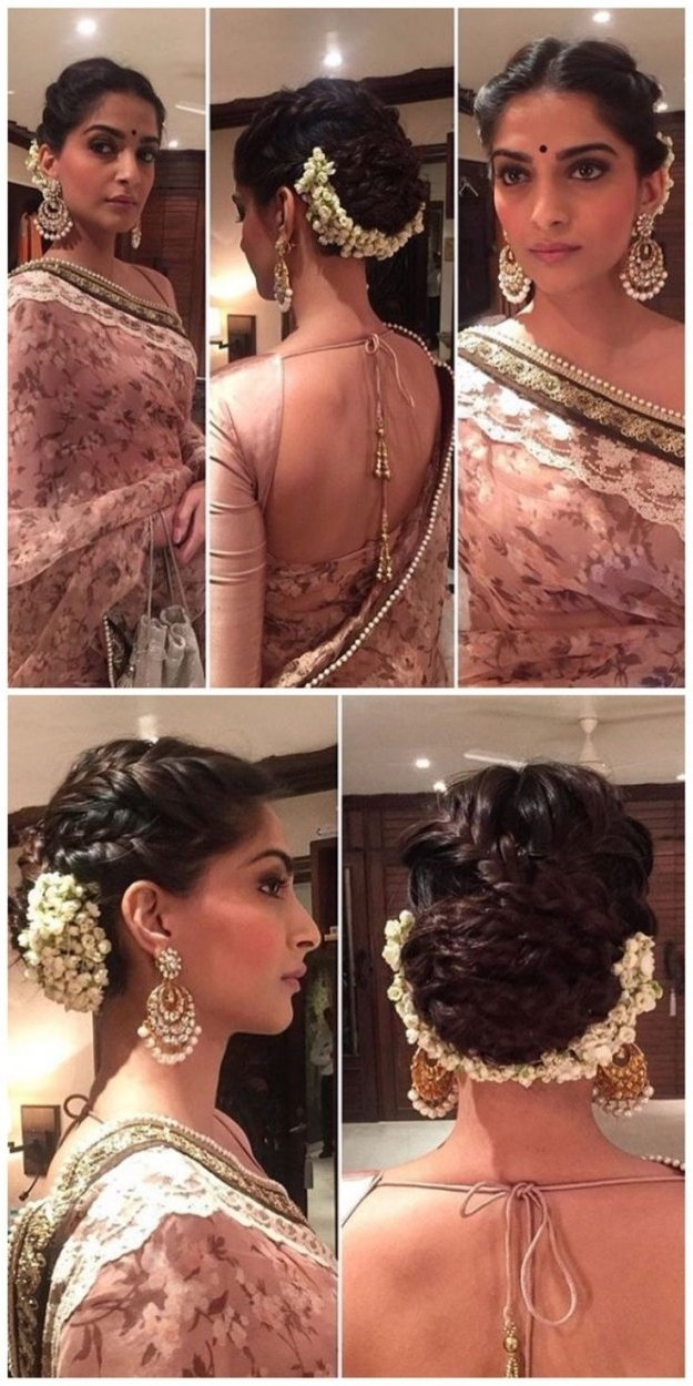 Indian Wedding Hairstyle Medium Length Hair 3 Indian Hairstyles Throughout Indian Wedding Hairstyles For Shoulder Length Hair (View 7 of 15)