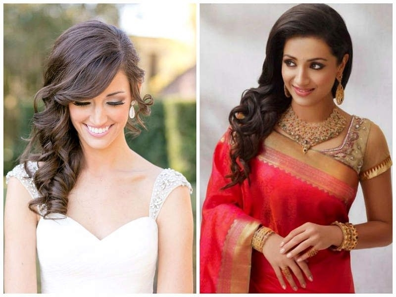 Indian Wedding Hairstyles For Medium Length Hair To Adorn Wedding Inside Indian Bridal Hairstyles For Shoulder Length Hair (View 9 of 15)