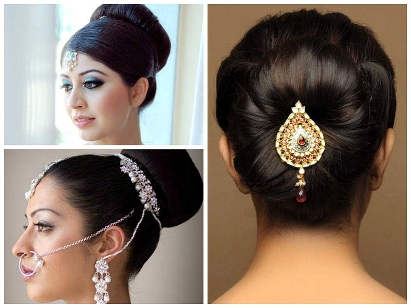 Indian Wedding Hairstyles For Medium Length Hair To Adorn Wedding Pertaining To Indian Wedding Hairstyles For Medium Length Hair (View 9 of 15)