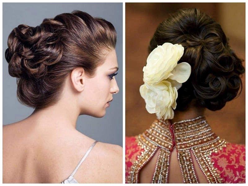 Indian Wedding Hairstyles For Medium Length Hair To Adorn Wedding With Indian Bridal Hairstyles For Medium Length Hair (View 8 of 15)