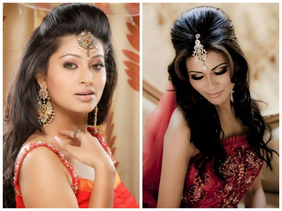 Indian Wedding Hairstyles Long Hair For Mid Stock Photos Hd | Easy Within Easy Indian Wedding Hairstyles For Medium Length Hair (View 7 of 15)