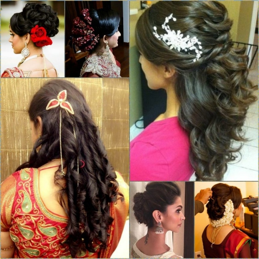 Indian Wedding Hairstyles Long Hair For Stock Photos Hd | Easy Within Easy Indian Wedding Hairstyles For Long Hair (View 4 of 15)