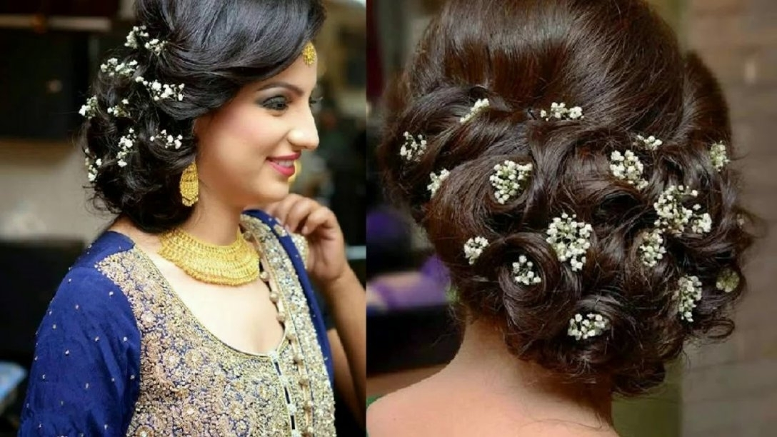 Indian Wedding Reception Hairstyles For Short Hair – Youtube | Best With Regard To Wedding Reception Hairstyles For Guests (View 1 of 15)