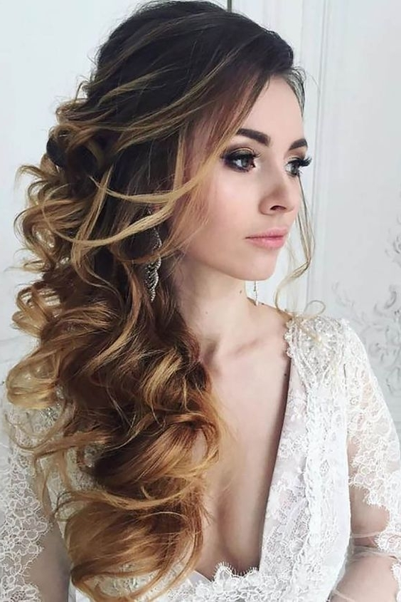 Inspiration Wedding Hairstyles For Long Hair Down Also Best 25 Pertaining To Wedding Hairstyles With Long Hair Down (View 9 of 15)