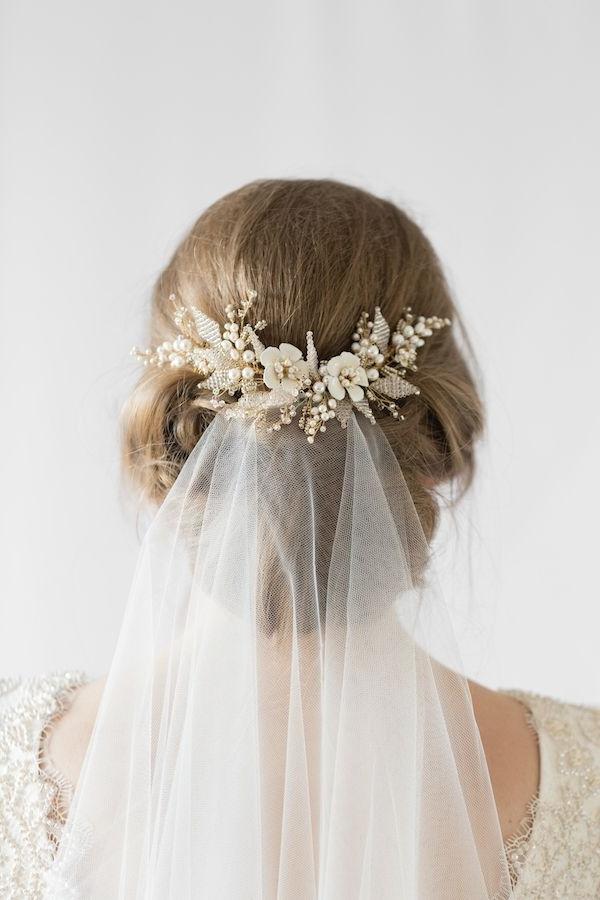 Jasmine | Floral Wedding Hair Comb | Pinterest | Jasmine Hair, Hair within Wedding Hairstyles With Veil And Flower
