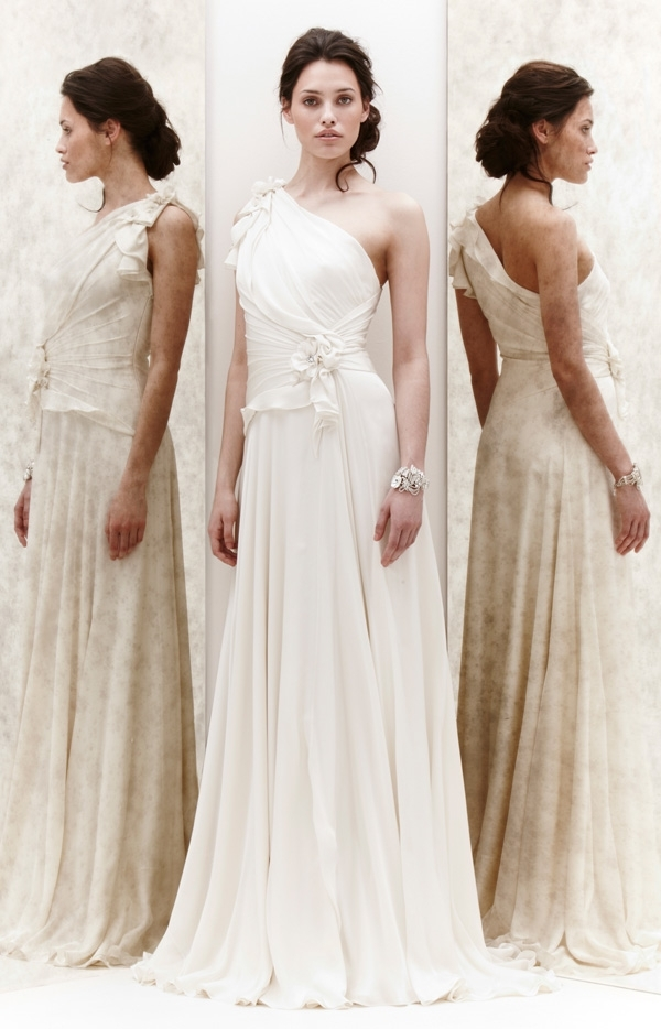 Jenny Packham 2013 Glamourous Bridal Dresses | Wedding Dress With Over One Shoulder Wedding Hairstyles (View 14 of 15)