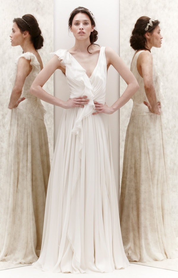 Jenny Packham 2013 Glamourous Bridal Dresses | Wedding Dress With Regard To Wedding Hairstyles For V Neck Dress (View 7 of 15)