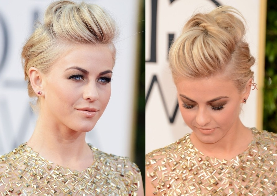 Julianne Hough Edgy Fauxhawk For Wedding - 2013 Golden Globe Awards pertaining to Julianne Hough Wedding Hairstyles