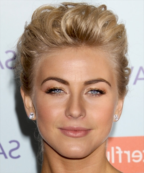 Julianne Hough Long Curly Formal Updo Hairstyle - Light Golden with Julianne Hough Wedding Hairstyles